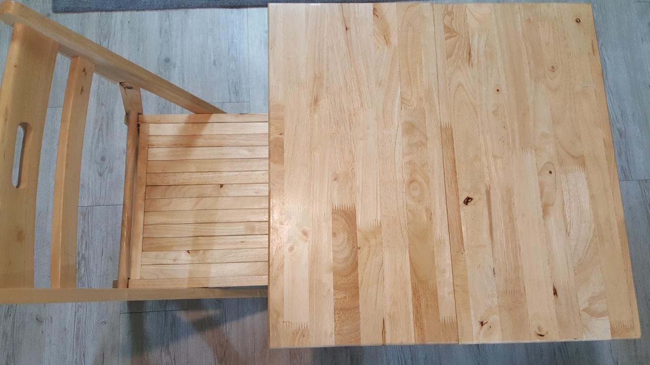 원목테이블+의자세트+8mm강화유리 새것