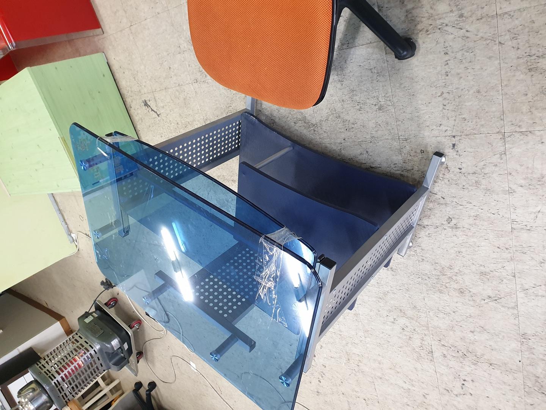 유리테이블 컴퓨터책상+의자판매