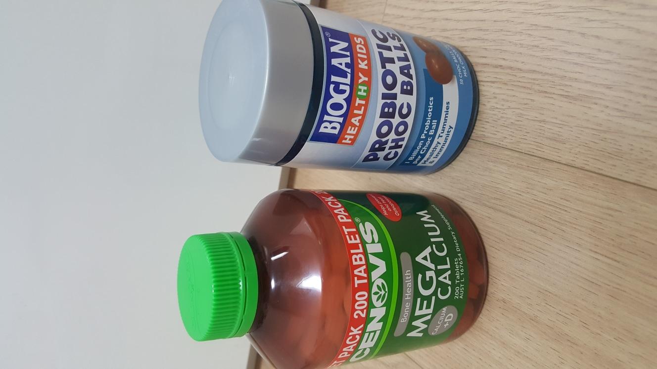 세노비스 메가칼슘+바이오글란 유산균 초코볼 새상품