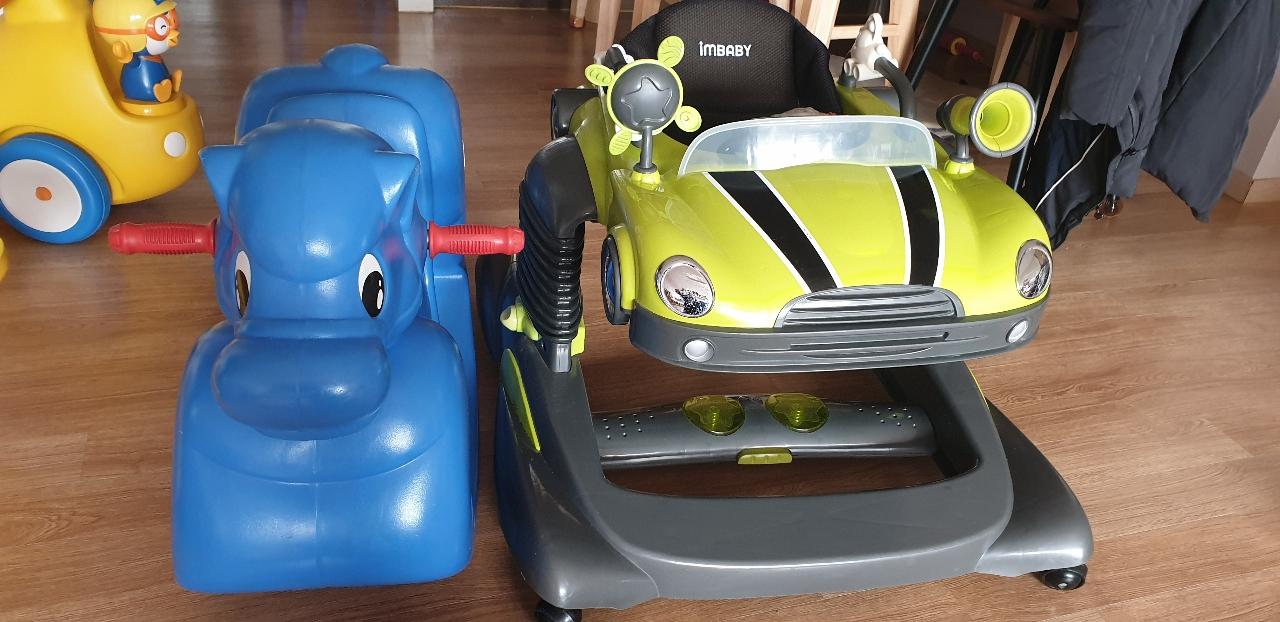 파랑말이랑 자동차 보행기