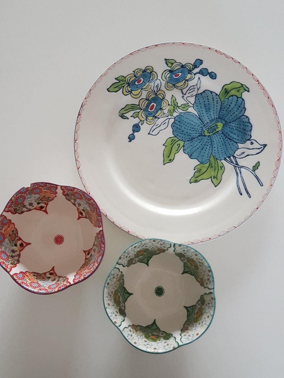 앤트로폴로지 식기 접시 그릇