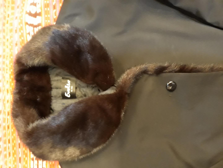 밍크카라 코트