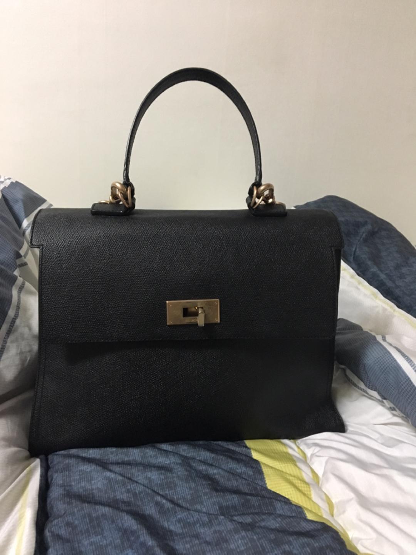쿠론 스테파니 클래식 블랙 토트백 숄더백 가방