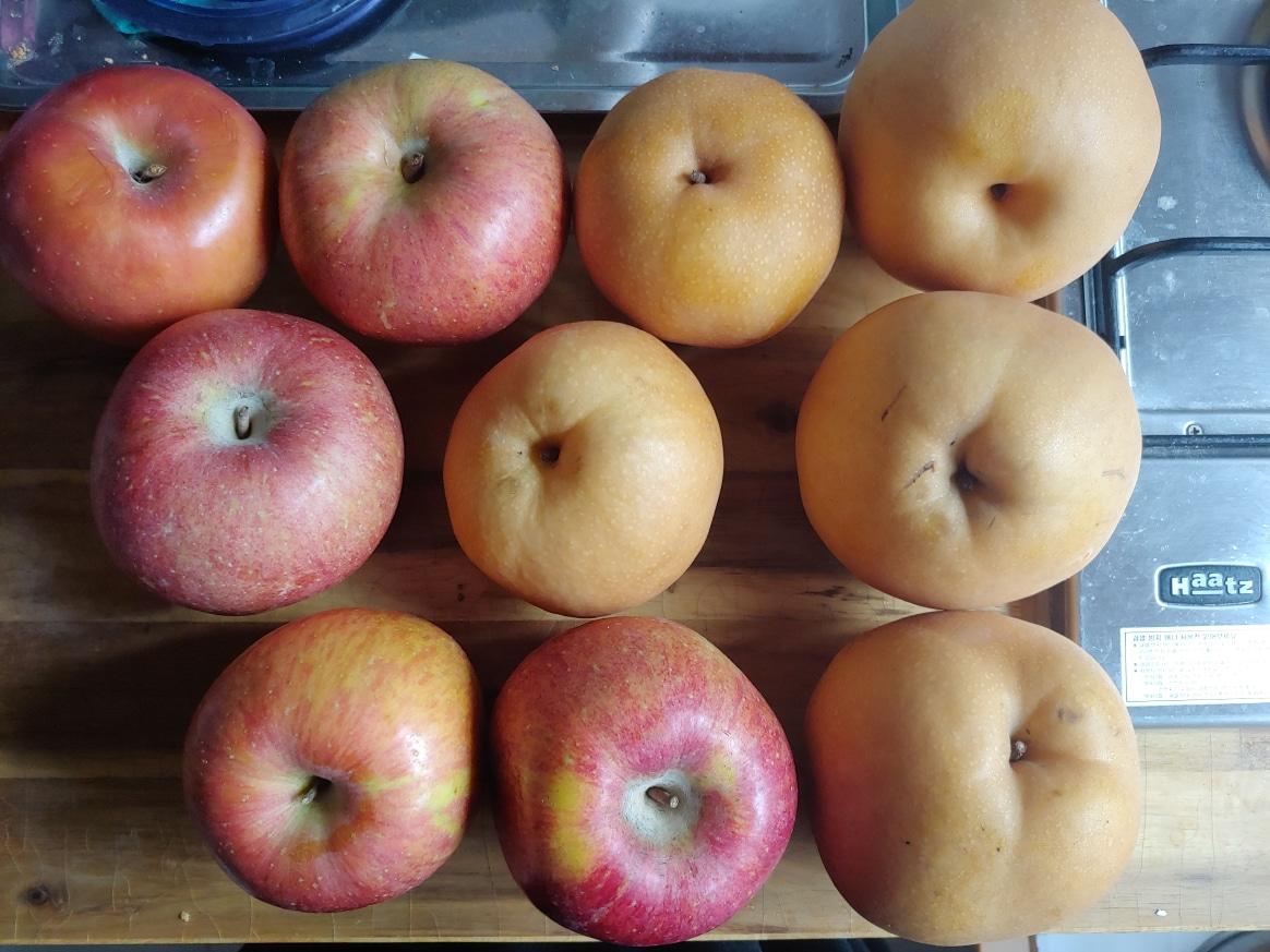 사과 배 나눠드려요