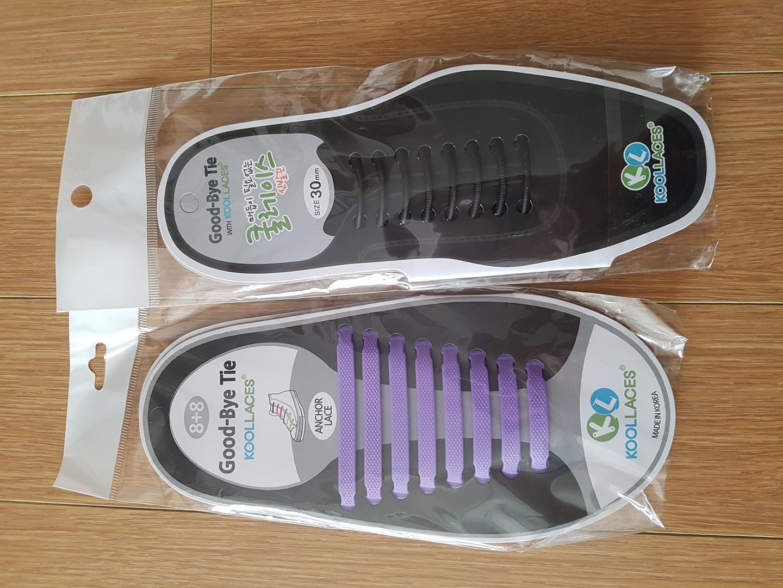 새제품-매듭이 필요 없는 신발끈 2개 일괄 판매합니다