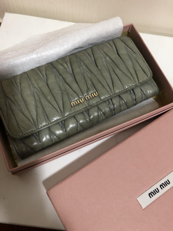 [지갑] 미우미우 마테라쎄 장지갑