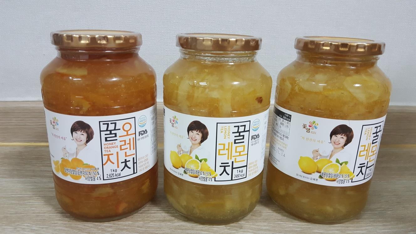 꿀 레몬차, 꿀 오렌지차 1kg