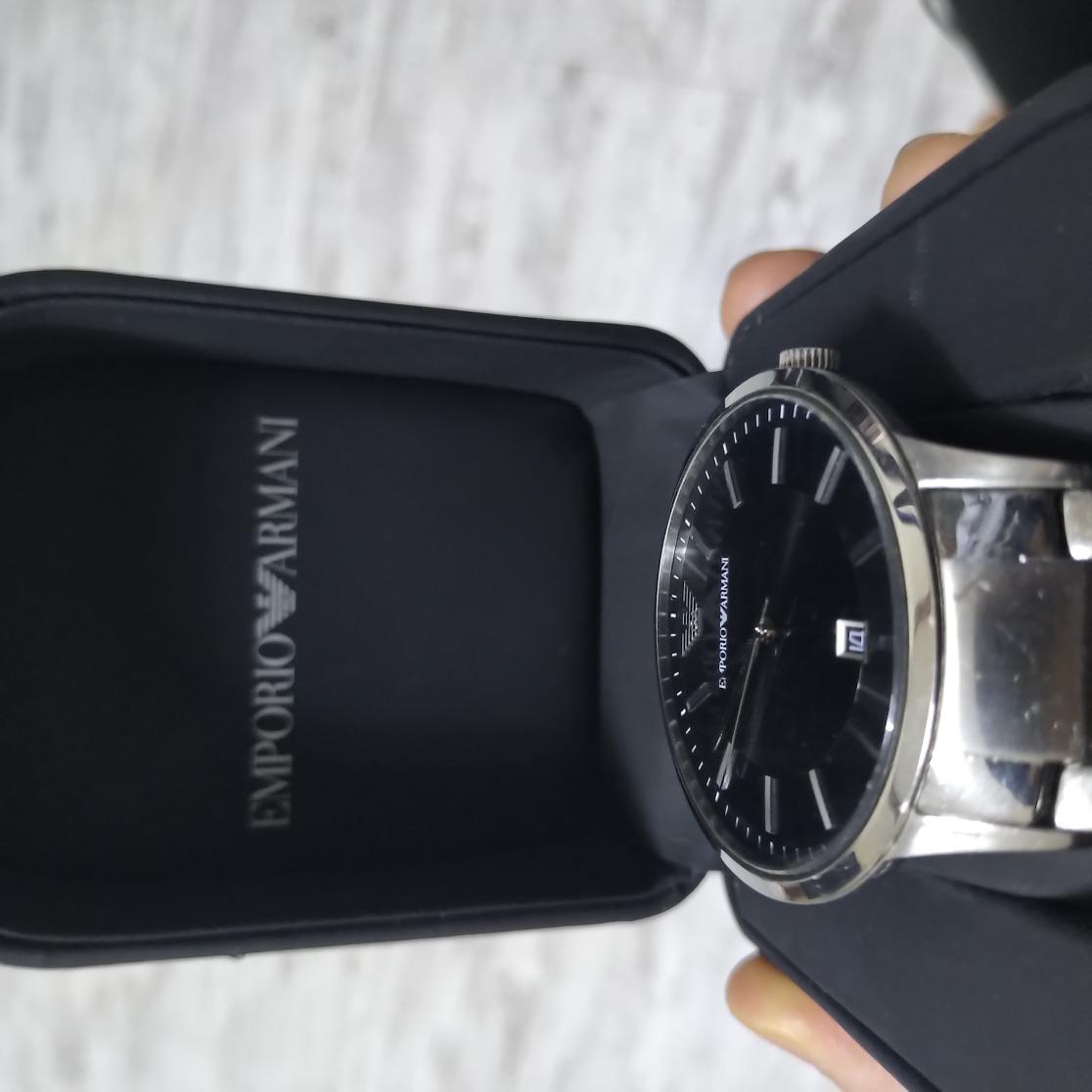 남자 알마니 시계 (시계멈춤..) 판매합니다