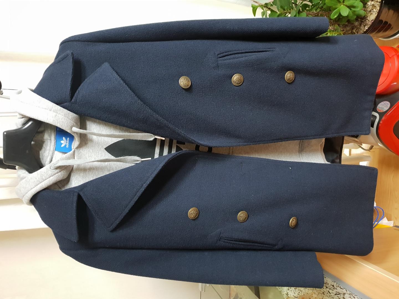 리얼코코 코트 55 네이비 사이즈S 반코트 봄 겨울 가을 코트