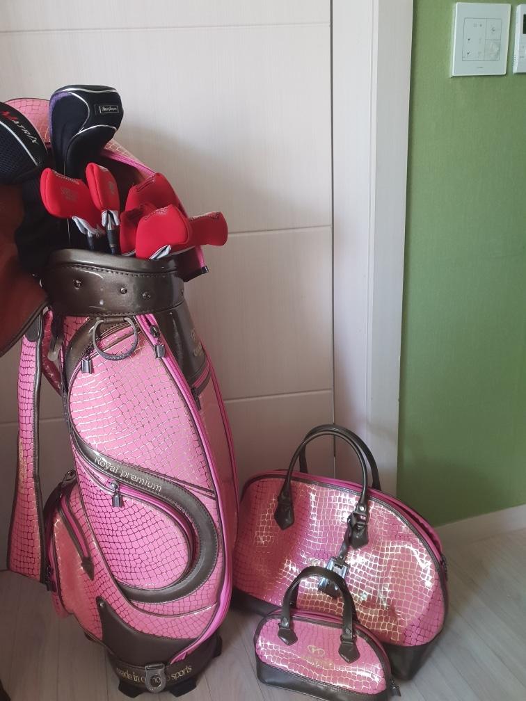 골프채가방+골프채10개+여행가방+미니여행가방