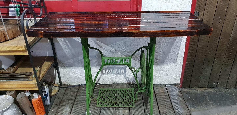 미싱 다리 테이블