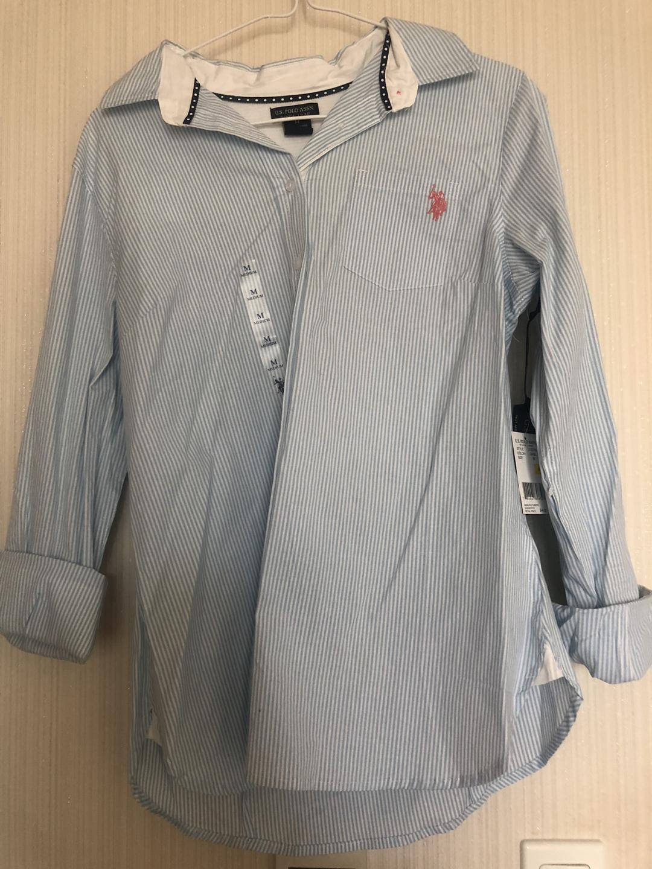U S Polo Assn 스트라이프 셔츠 미듐사이즈 새상품 tag 제거도 안했어요