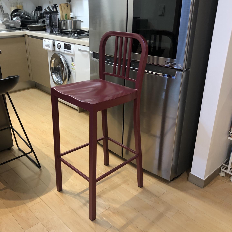 철제 바체어 와인색 / 바의자