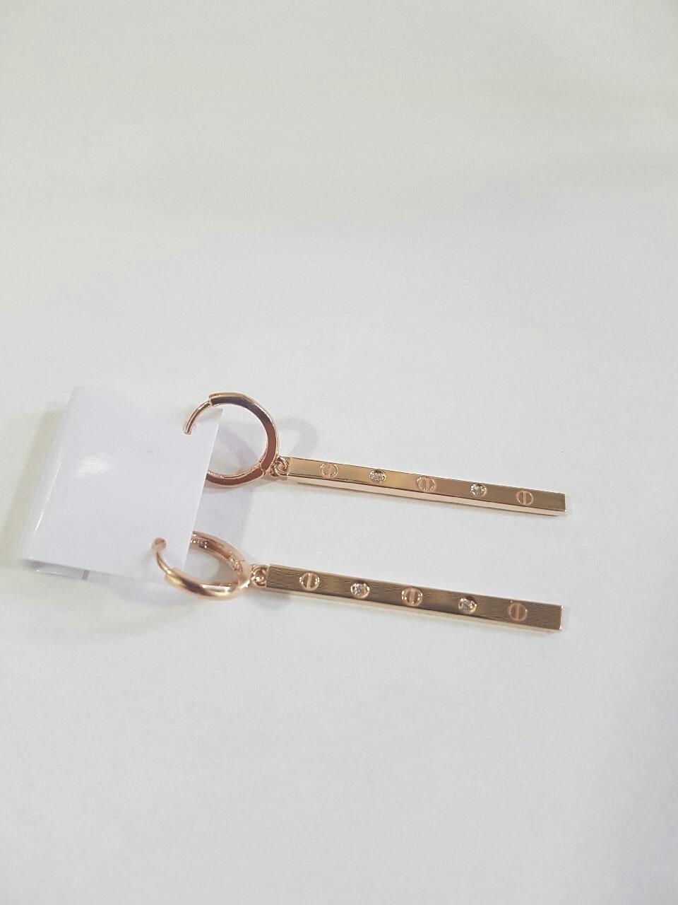 (택배가능)세련된 스타일의 14k골드 스틱 귀걸이