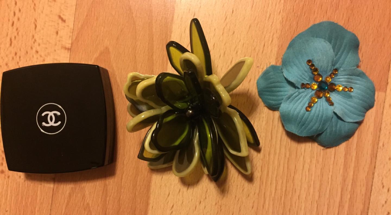 꽃 브로찌 2개