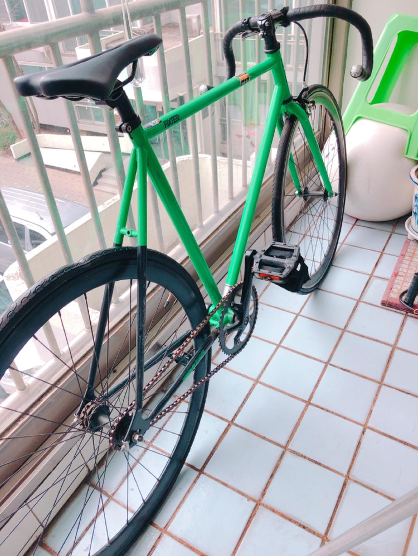 그린색  픽시  자전거