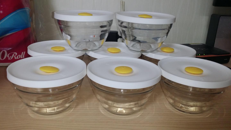 냉동밥보관용기(글라스락) 8개