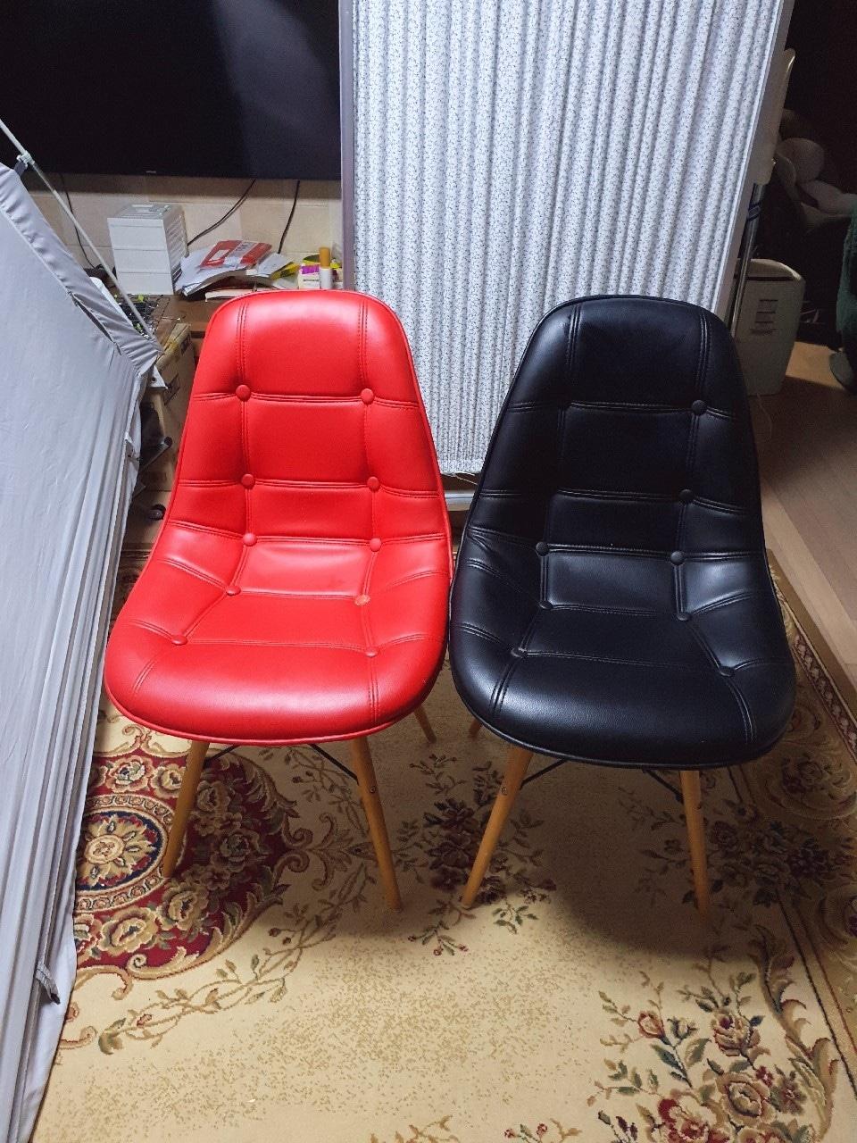 개별구매가능)단추스틸의자 철제 빈티지 카페인테리어의자 단추패션의자 에그의자