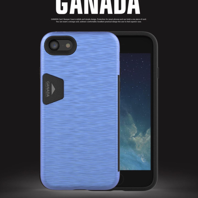 아이폰7+ / 아이폰8+ 카드 범퍼 케이스 블루