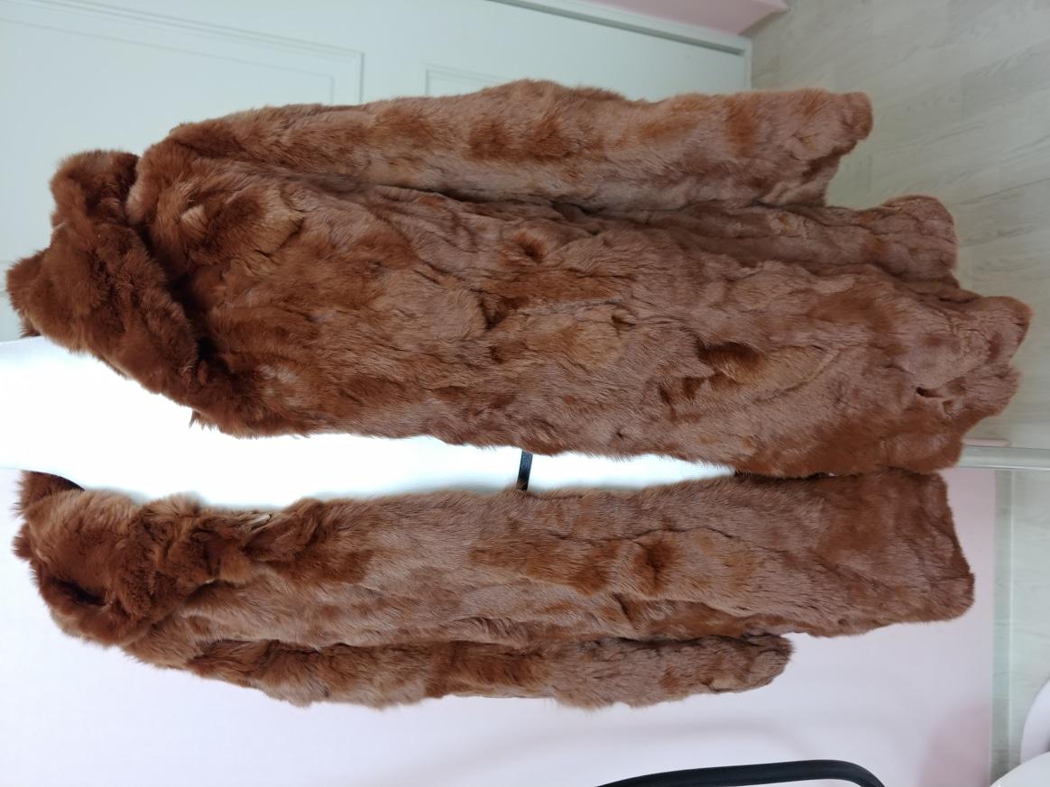 새옷/천연토끼털 후드자켓 프리사이즈