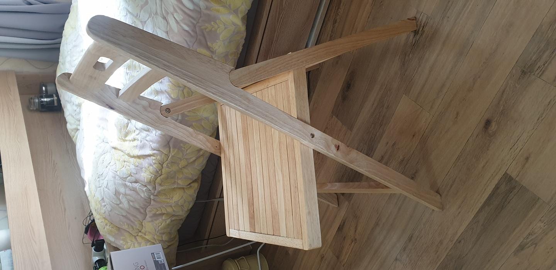 원목 의자 식탁 의자 접이식 나무 의자