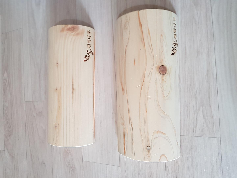 편백나무 목침2개