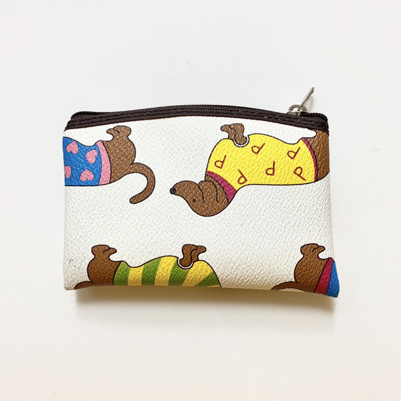 (두번 사용) 강아지 프린팅 카드지갑 / 동전지갑 판매해요.