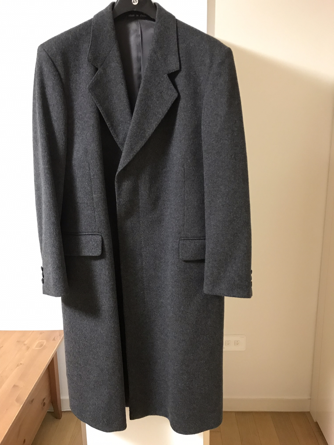 Burberry long coat (영국사이즈 50/XL) dark grey