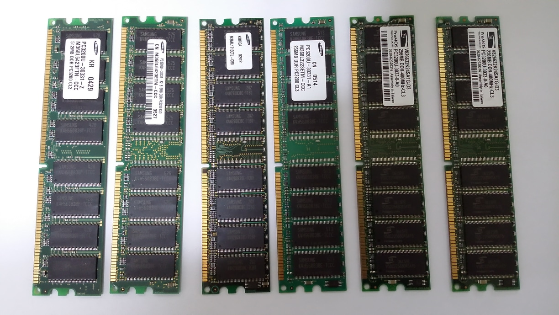 컴퓨터 메모리 (램)  6개