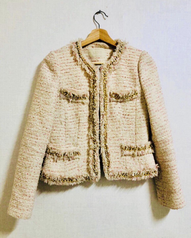 린 lynn 트위드 자켓
