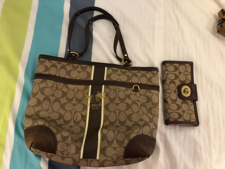 코치지갑+가방 팝니다