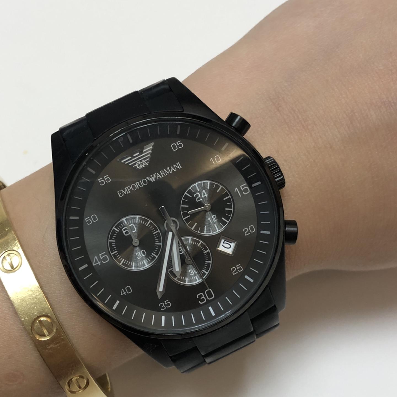 armani 알마니 남성 시계 블랙