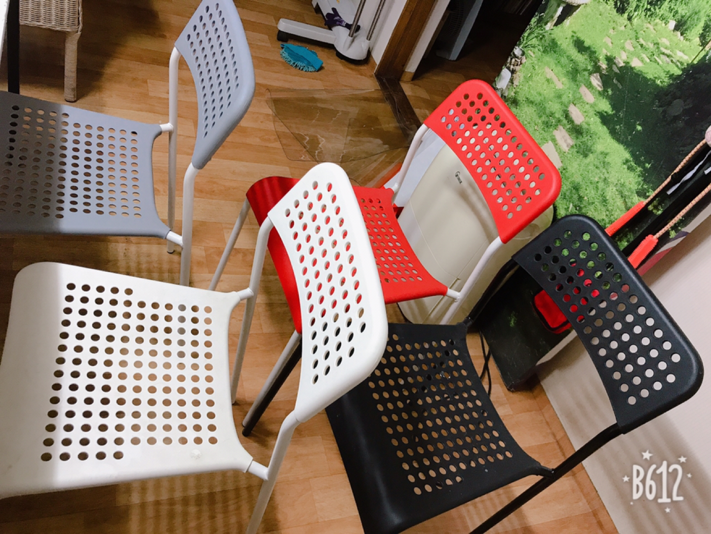 이케아 의자 4개 식탁의자 책상의자 다용도의자