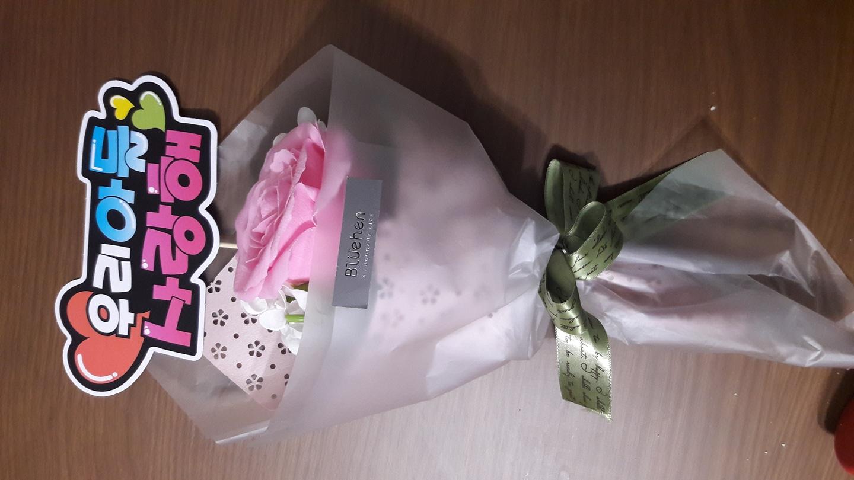 졸업식 꽃다발. 비누꽃
