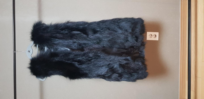 천연폭스조끼 여우털