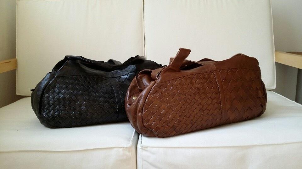 천연 소가죽 토트백 (새제품) 보스턴백 여행가방 짐가방