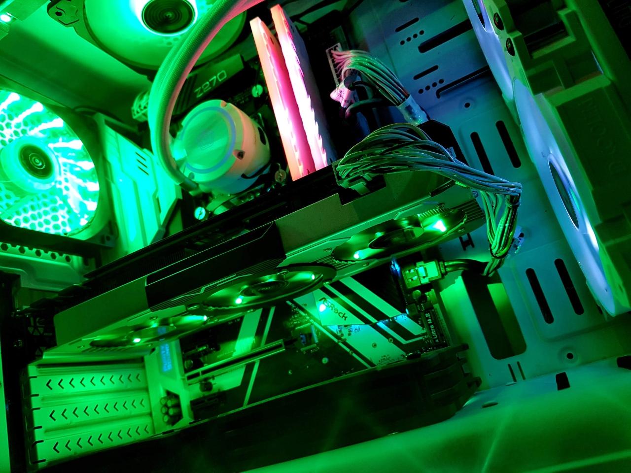 ☆i7-7700k 오버머신 수냉쿨러 컴퓨터 본체☆gtx1070