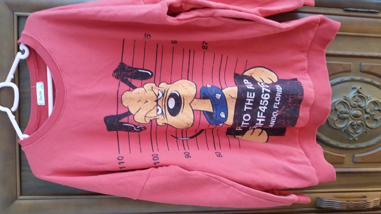 롱 티셔츠(여우)  큰사이즈 110