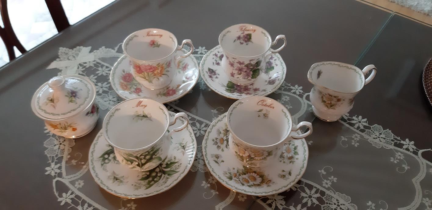 영국 빈티지  커피잔