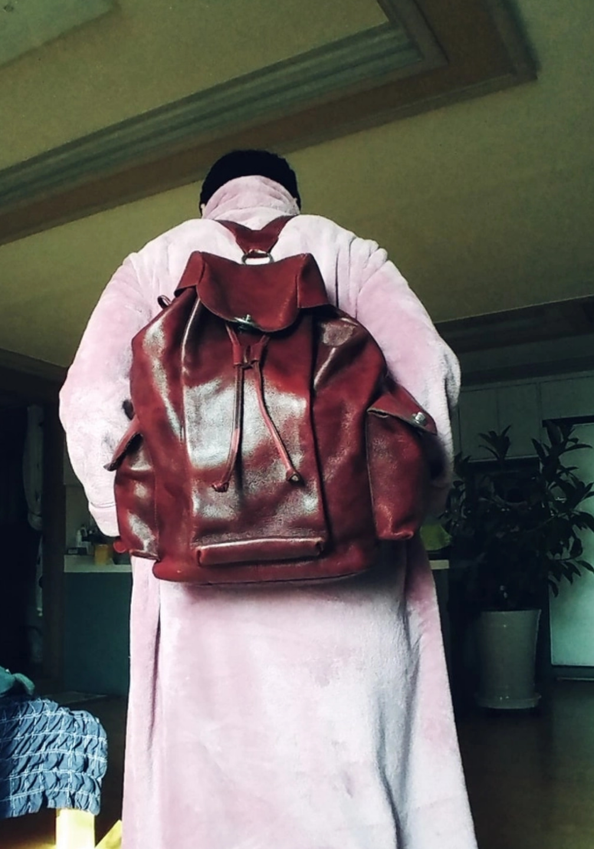 핸드메이드 통가죽 가방 백팩