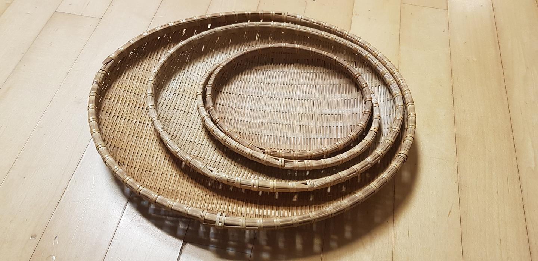 대나무 바스켓 세트