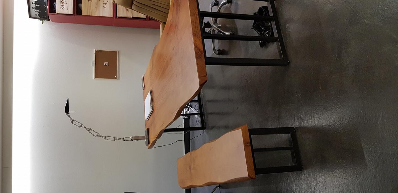 고급 원목 책상&원목 의자&의자