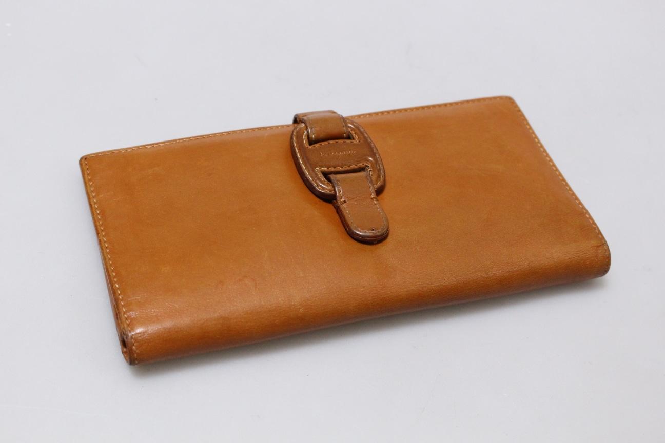 (정품)살바토레 페라가모 프리미엄 브라운 버클장식 장지갑 명품지갑