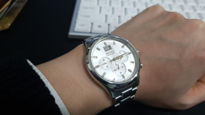 세이코 빅데이트 크로노 쿼츠 시계