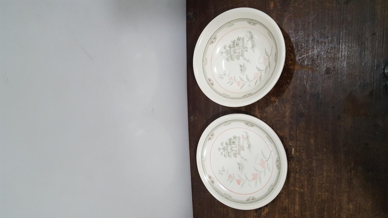 영국 스태포드셔 접시와 국그릇 2피스