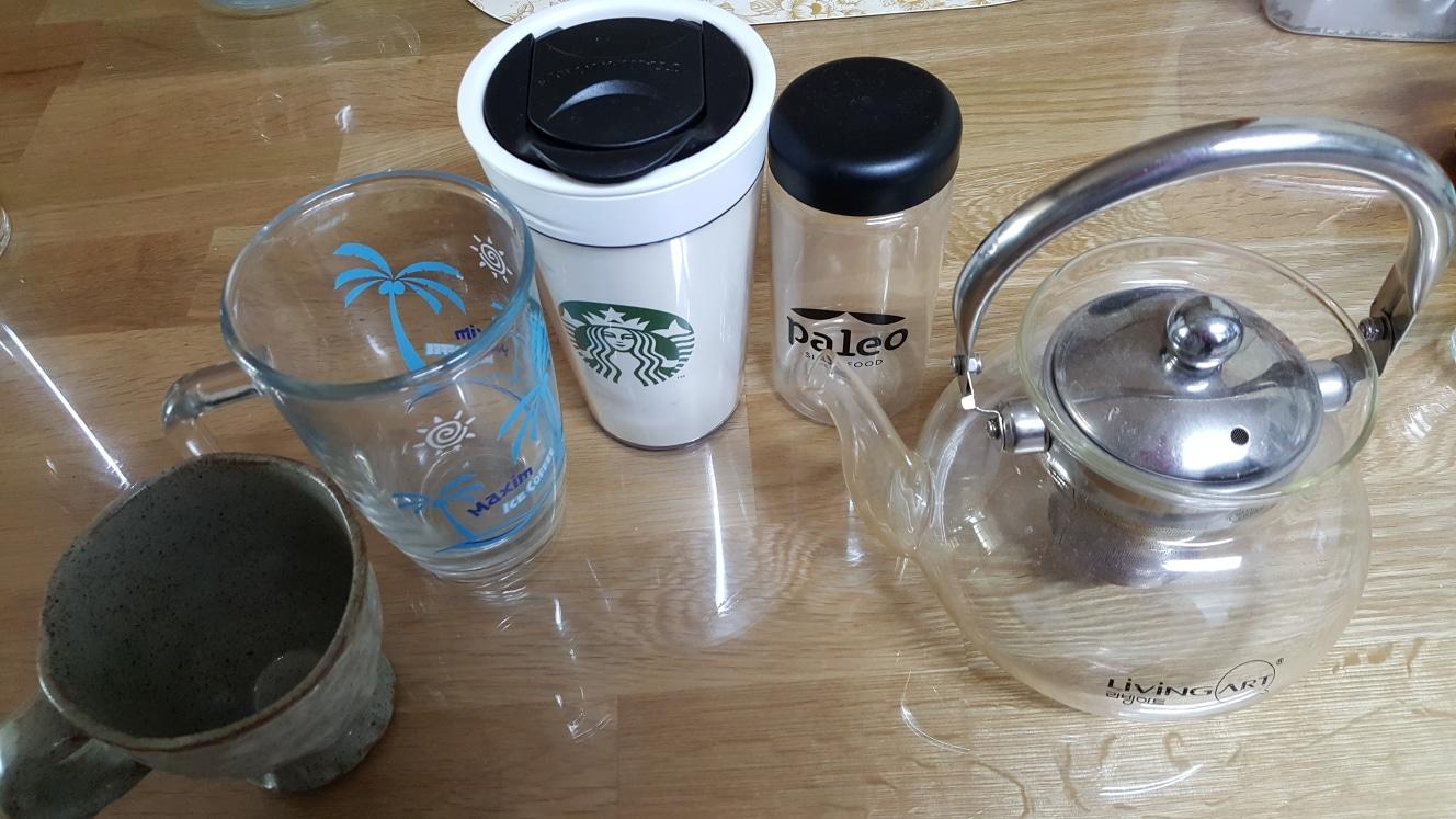 내열유리 주전자외 컵