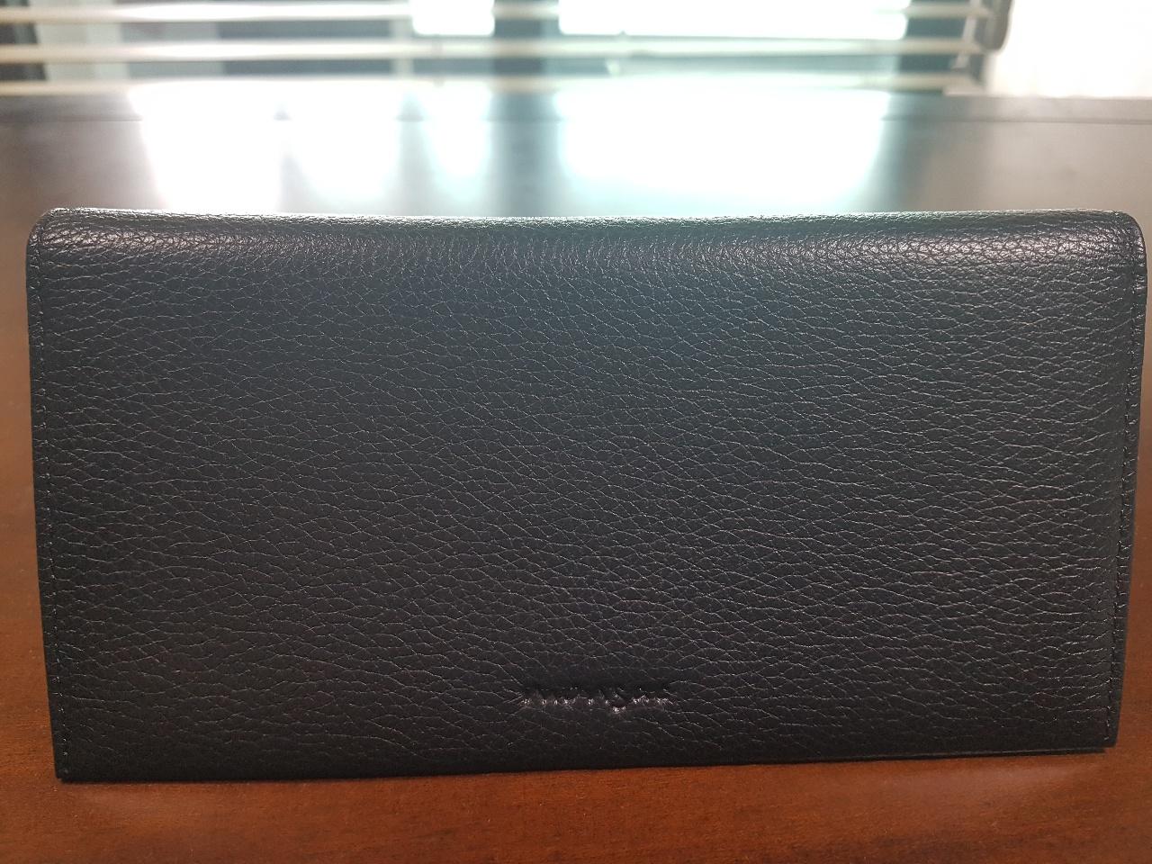 몽삭 블랙 가죽 지갑(새 제품)