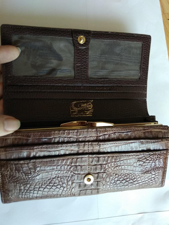 싱가폴 진짜 악어 한마리 지갑