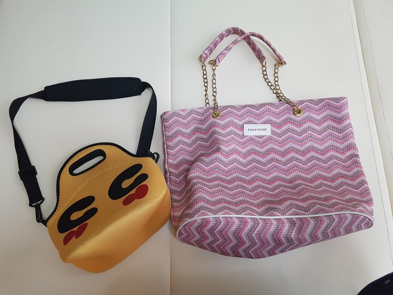 가방 두개 일괄 입니다. 보냉백, 숄더백