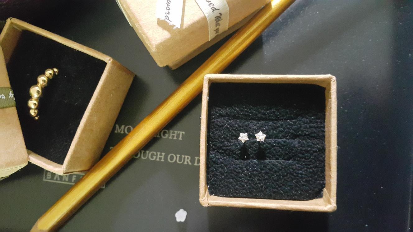 14k 큐빅 귀걸이세트 (더내림없어요)